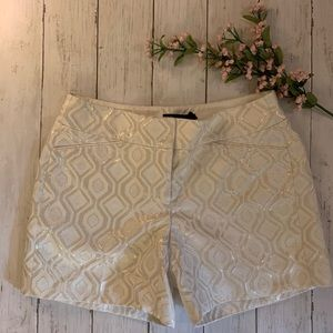 WHBM Gold Cream Brocade Shorts